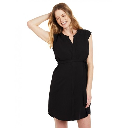 Motherhood Maternity   Tie Belt Maternity Shirt Dress - image 1 of 4