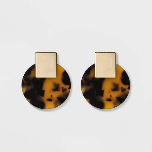 e9ca364862d65 Women's Disk Post Earrings - A New Day™ Tortoise