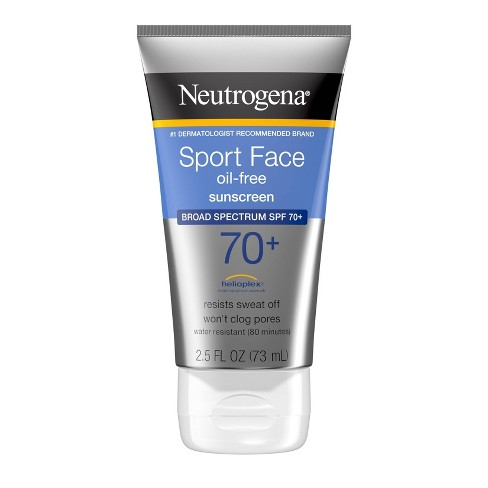 Neutrogena Ultimate Sport Face Oil-Free Sunscreen Lotion - SPF 70+ - 2.5 fl oz - image 1 of 4