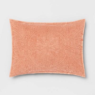 Standard Medallion Stitch Sham Dark Peach - Opalhouse™