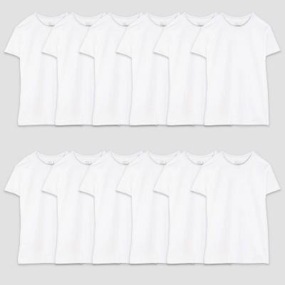 Fruit of the Loom Men's 12pk Crew Neck Short Sleeve T-Shirt - White XL