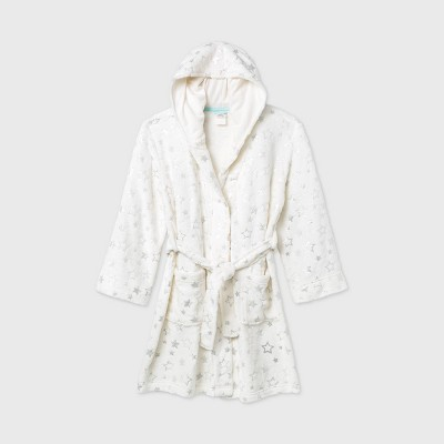 Girls' Star Print Robe - Cat & Jack™ Cream