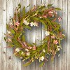 """Artificial Spring Wreath Pink 22"""" - National Tree Company - image 2 of 2"""