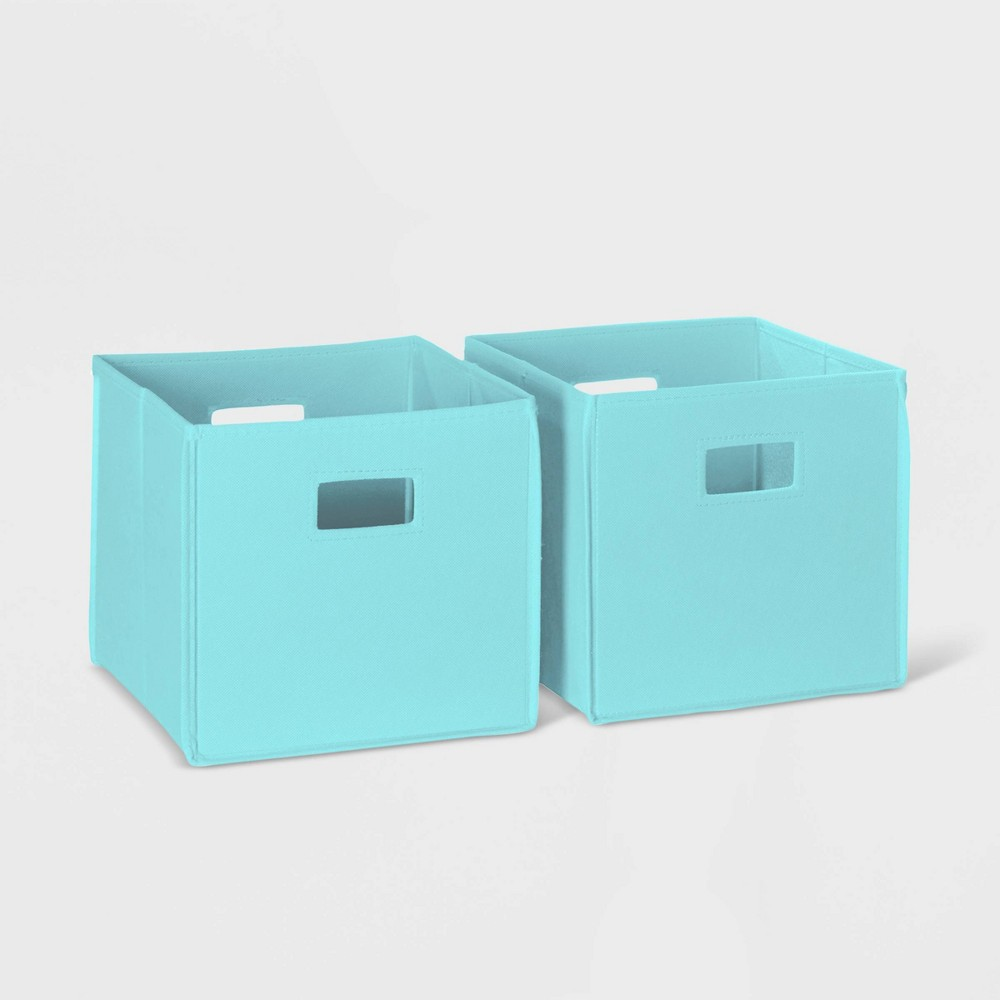 Image of 2pc Folding Storage Bin Set Aqua - RiverRidge