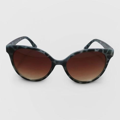 Women's Cateye Plastic Sunglasses - A New Day™ Gray - image 1 of 2