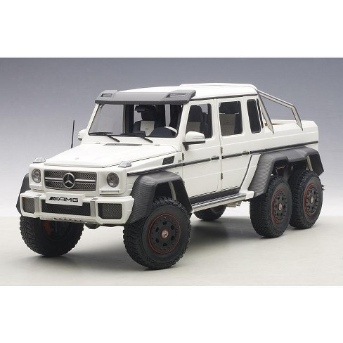 G63 Amg 6X6 >> Mercedes Benz G63 Amg 6x6 Matt White 1 18 Model Car By Autoart
