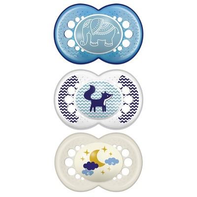 MAM Day/Night Triple Pack 6+ Months - Blue/Aqua 3ct