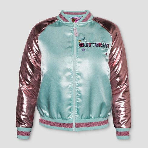 7a3441aaad2 Girls  L.O.L. Surprise! Glitterati Reversible Bomber Jacket - Aqua ...