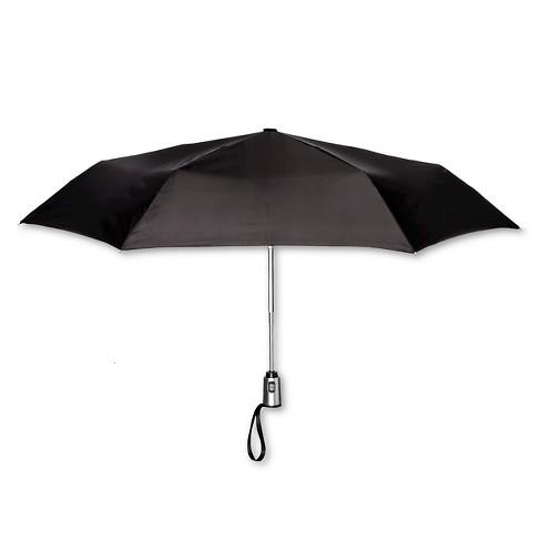 ShedRain Auto Open/Close Compact Umbrella  - Black - image 1 of 1