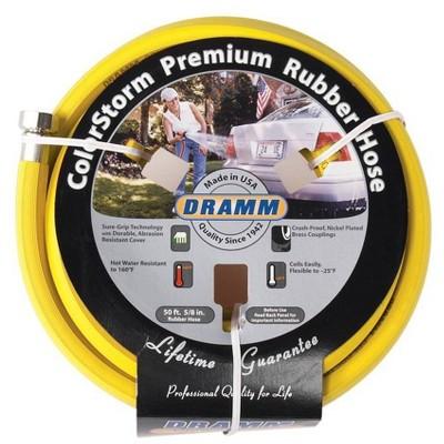 50' ColorStorm Premium Rubber Garden Hose Yellow - Dramm