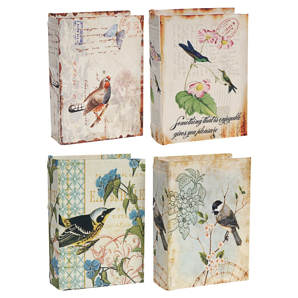 Book Boxes - Set of 4 - A&b Home, Multi-Colored