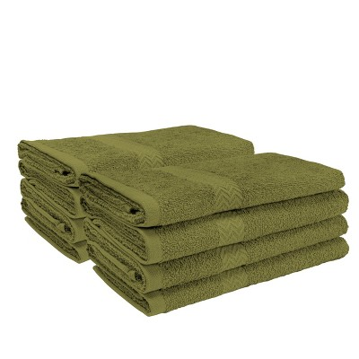 Eco-Friendly Absorbent 8-Piece Face Towel Set - Blue Nile Mills