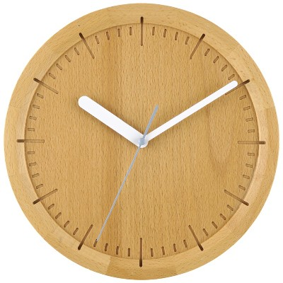 13  Solid Beech Wood Wall Clock Light Brown - Project 62™