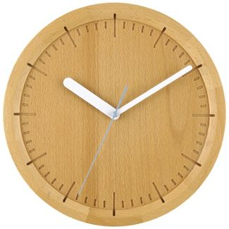 "13"" Solid Beech Wood Wall Clock Light Brown - Project 62™"
