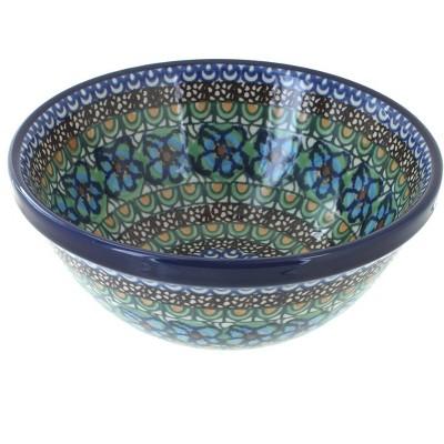Blue Rose Polish Pottery Mardi Gras Cereal/Soup Bowl