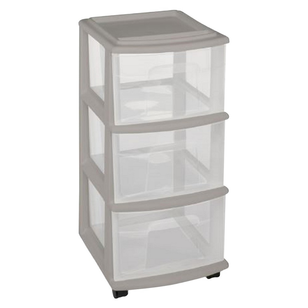 3-Drawer Medium Storage Cart - Gray - Room Essentials The Storage Drawer Cart from Room Essentials offers a convenient storage solution that's easy to move wherever you need it. Great for anything from clothing to crafts, it has see-through drawers for easy organization. Color: Gray.