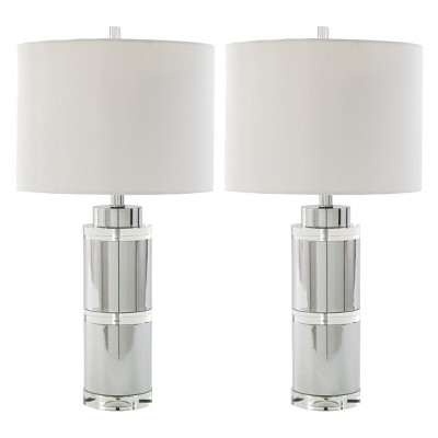 Makram Metal Set of 2 Table Lamp Chrome (Lamp Only)- Signature Design by Ashley