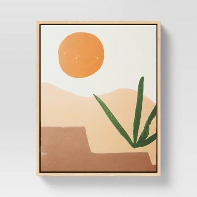 "16"" x 20"" Desert Sun Abstract Framed Wall Canvas - Project 62™"