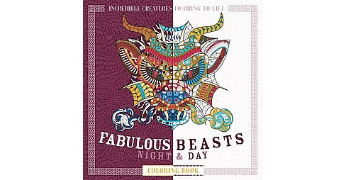 Fabulous Beasts Night & Day Coloring Book (Paperback) - image 1 of 1