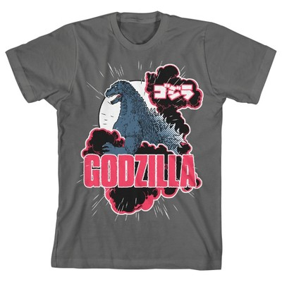 Classic Godzilla Youth Charcoal Gray Graphic Tee