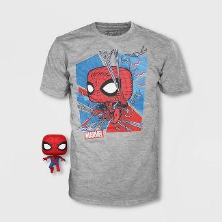 Kids' Marvel Classic Spidey Short Sleeve Graphic T-Shirt with Mini Funko POP! - Gray M