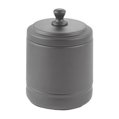 mDesign Metal Bath Vanity Storage Organizer Canister Jar