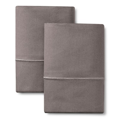 King 1000 Thread Count Supima Cotton Pillowcase Set Gray Marble - Fieldcrest®