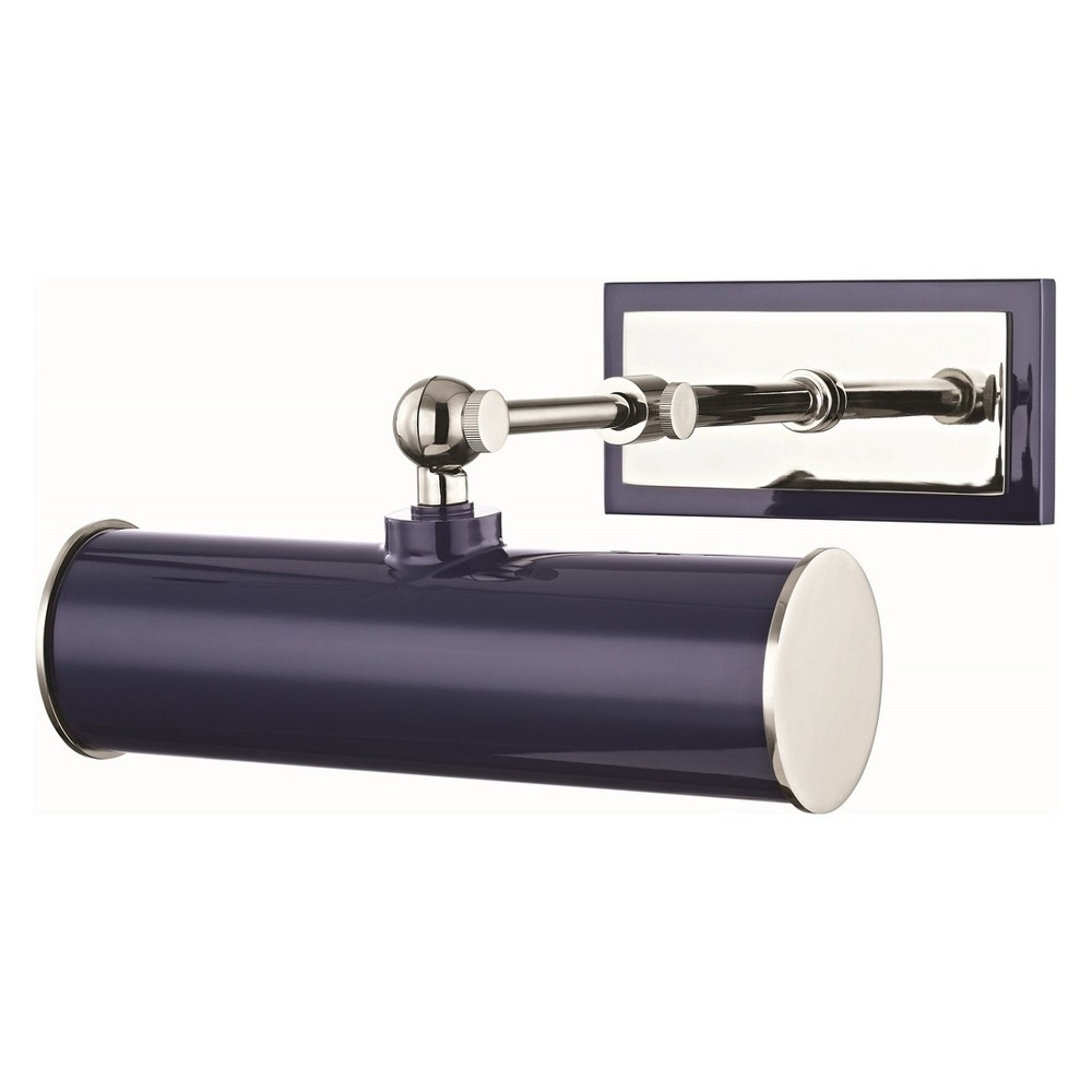 Image of Holly 1-Light Picture Light Brushed Nickel/Navy - Mitzi by Hudson Valley, Brushed Nickel/Blue