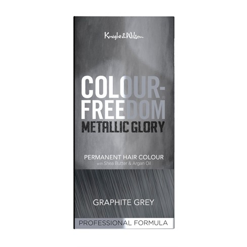 Knight Wilson Color Freedom Metallic Glory Permanent Hair Graphite Grey 4 7 Fl Oz