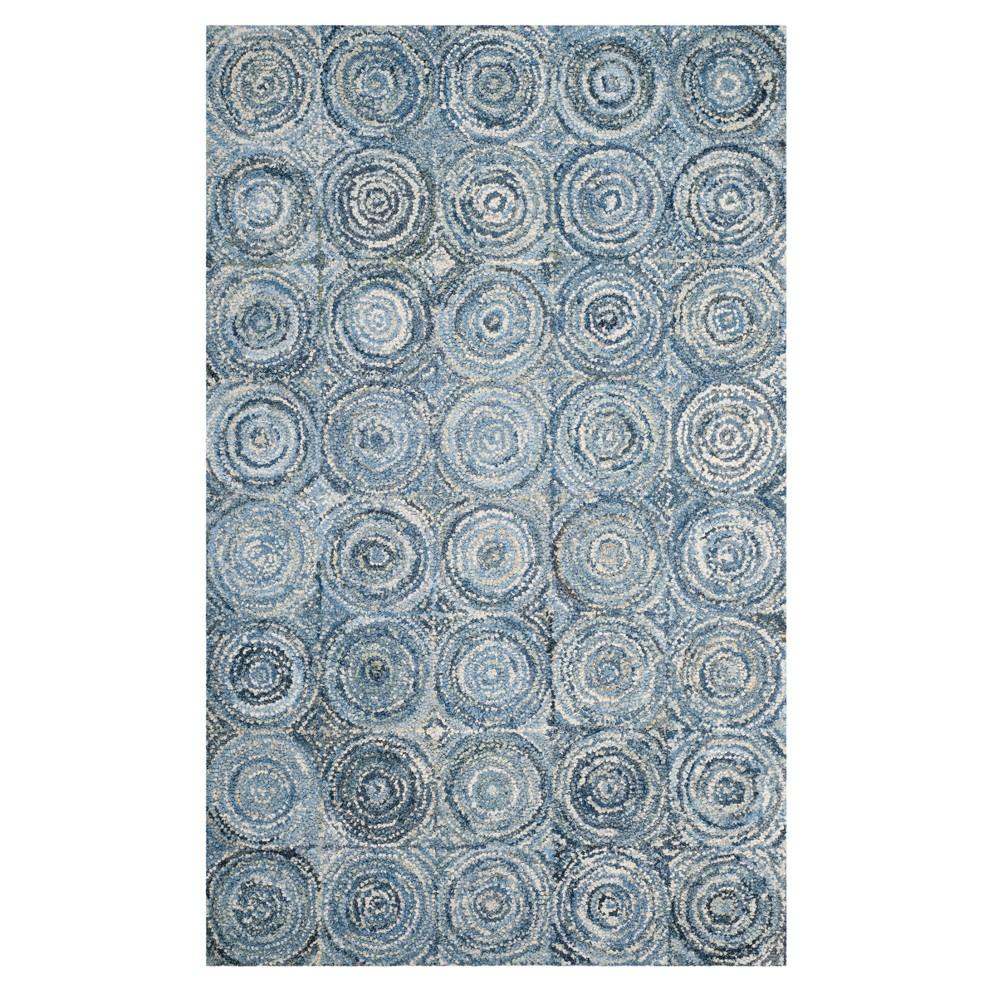 Blue Swirl Tufted Area Rug 6'X9' - Safavieh