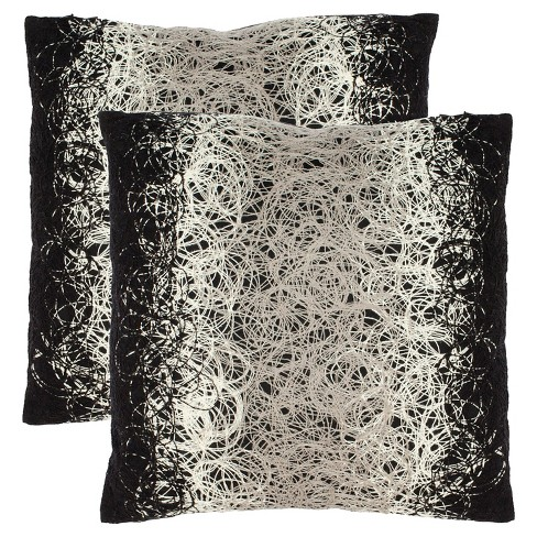 Black Coil 2-pk Throw Pillow - Safavieh® - image 1 of 2