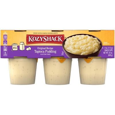 Kozy Shack Original Tapioca Pudding Cups - 6ct/4oz Cups