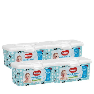 Huggies One & Done 4pk Baby Wipes Pop-Up Pack - 256ct