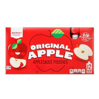 Original Applesauce Pouches - 12ct - Market Pantry™
