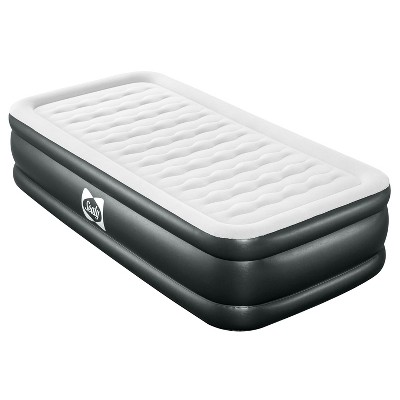 Sealy 94053E-BW Tritech Internal I-Beam 18 Inch High Single Person Inflatable Mattress Twin Airbed w/ Built-In Pump, Storage Bag, and Repair Patch