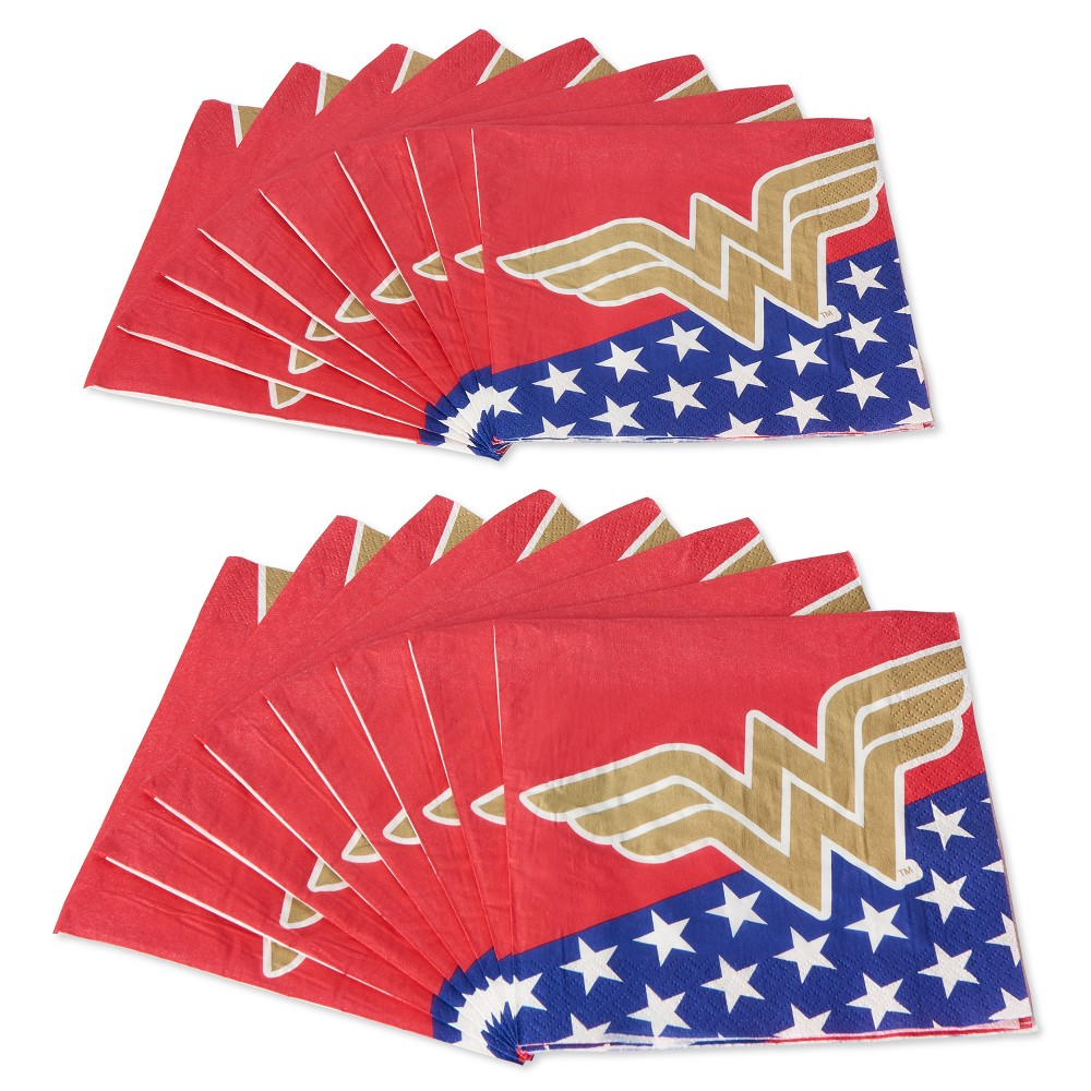 Image of 16ct Wonder Woman Lunch Napkins