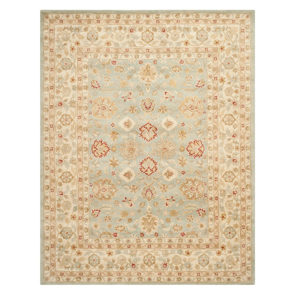 Floral Area Rug Gray/Blue