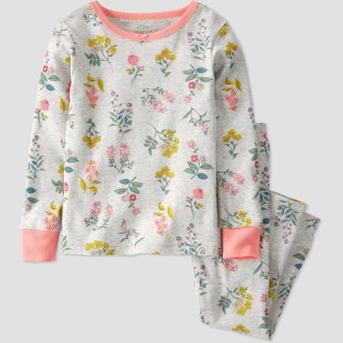 Toddler Girls' 2pc Botanical Pajama Set - little planet by carter's Gray - image 1 of 3
