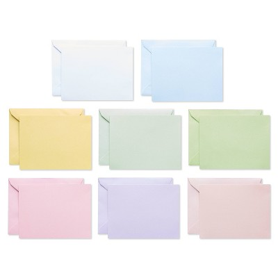 200ct Blank Cards with Envelopes Pastel - Spritz™