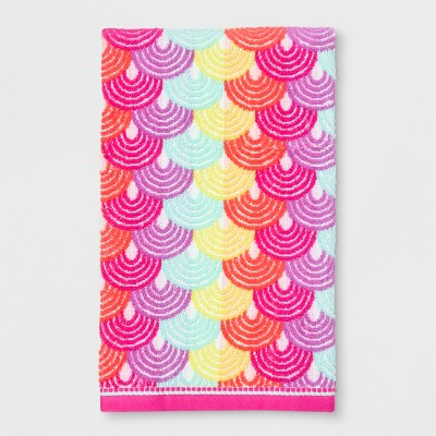 Scallop Bath Towel Pink - Pillowfort™