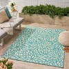 5' x 8' Simone Floral Outdoor Rug Blue/Ivory - Christopher Knight Home - image 3 of 4
