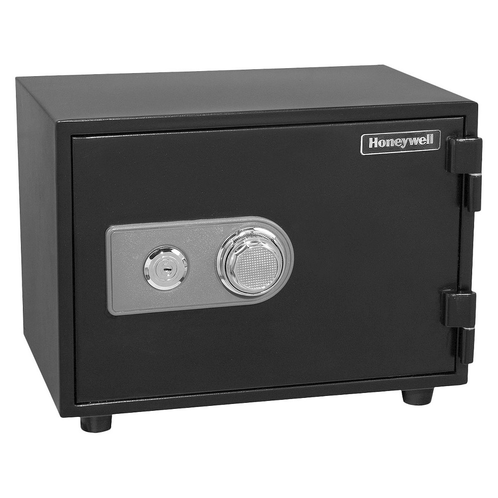 Image of 0.61 Cu. Ft. Water Resistant Steel Fire & Security Safe, Black