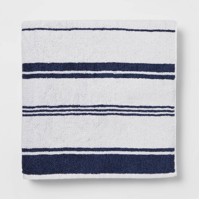 Performance Bath Sheet Navy Stripe - Threshold™