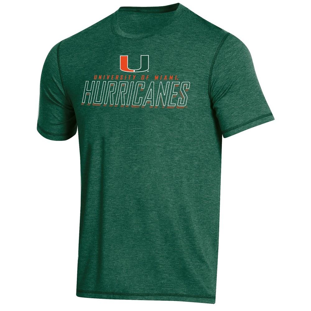 NCAA Men's Short Sleeve Poly T-Shirt Miami Hurricanes - S, Multicolored