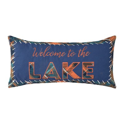 """C&F Home 12"""" x 24"""" Lake Troy Embroidered Throw Pillow"""