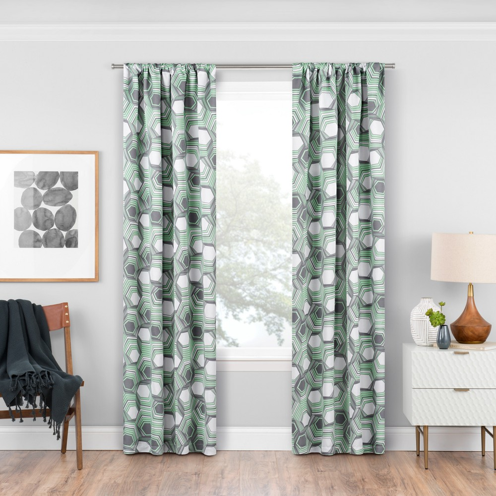 Griffith Thermaweave Blackout Curtain Panels Mint (Green) 63 - Eclipse