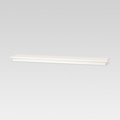 "36"" x 7.7"" Traditional Wall Shelf White - Threshold™"