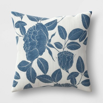 """18""""x18"""" Square Floral Throw Pillow - Threshold™"""