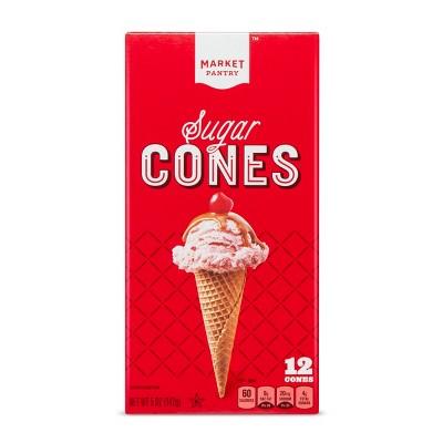 Ice Cream Cones & Toppings: Market Pantry Sugar Cones