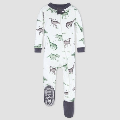 Burt's Bees Baby® Baby Boys' One Piece Dino Footed Pajamas - Gray